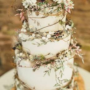 свадебный торт в стиле рустик фото 049