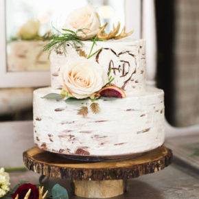 свадебный торт в стиле рустик фото 050