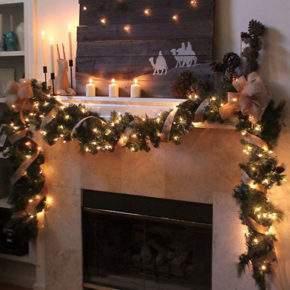 новогоднее украшение дома фото 005