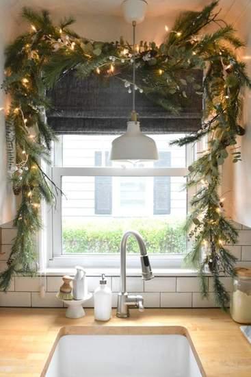 как красиво украсить квартиру на новый год фото 045