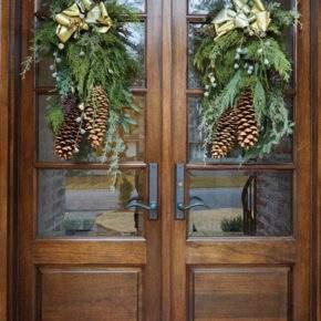 как украсить дверь на новый год фото 01