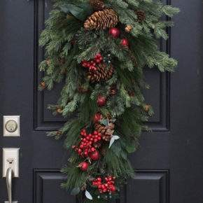 как украсить дверь на новый год фото 02
