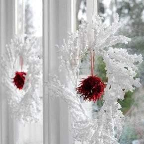 новогоднее оформление окон фото 13