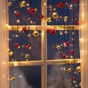 новогоднее оформление окон фото 22