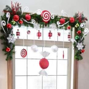 как украсить окно на новый год фото 28