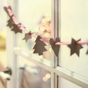 бумажные гирлянды на новый год фото 01