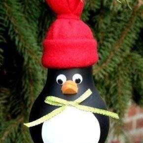 новогодние игрушки из лампочек фото 023