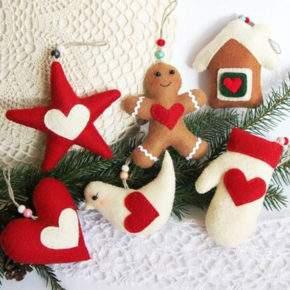 новогодние игрушки своими руками из ткани фото 042