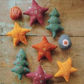 новогодние игрушки своими руками из ткани фото 044