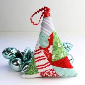 новогодние игрушки своими руками из ткани фото 062