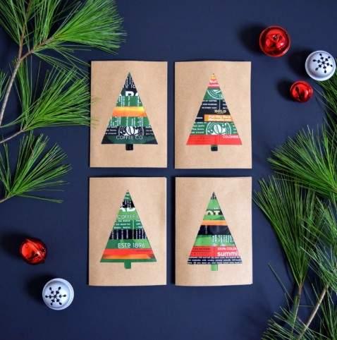 Новогодние открытки своими руками ✂ 57 идей + 12 мастер-классов