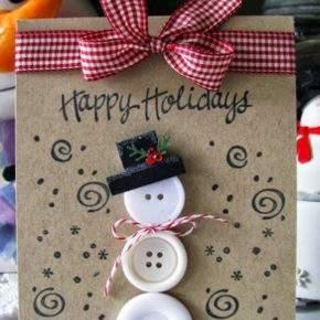 новогодние открытки своими руками с детьми фото 030