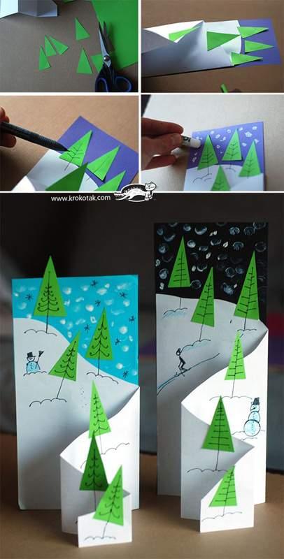 объемные новогодние открытки своими руками фото 036