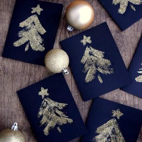 как сделать новогоднюю открытку фото 055