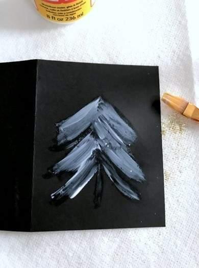 как сделать новогоднюю открытку фото 057