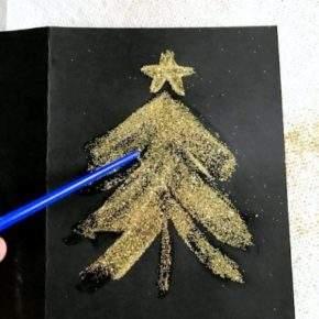 как сделать новогоднюю открытку фото 060