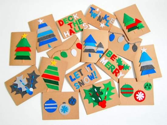 как сделать новогоднюю открытку фото 076