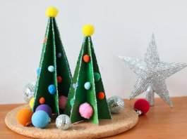 поделка новогодняя елка фото 17