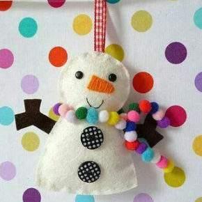 поделки на новый год снеговик фото 023