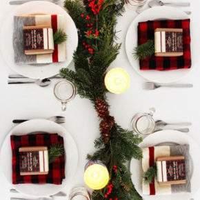 как украсить новогодний стол фото 15