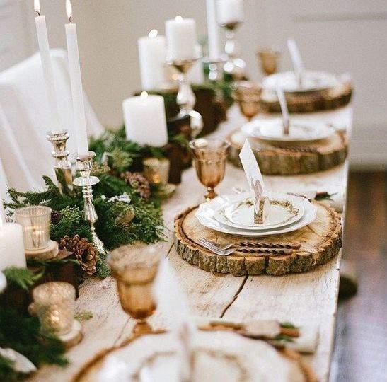 Новогодний стол ✔ 50+ идей украшения стола на Новый год своими руками