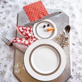 украшение новогоднего стола фото 45