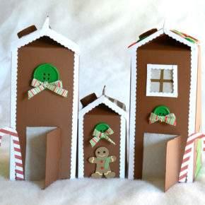 новогодний домик поделка фото 28