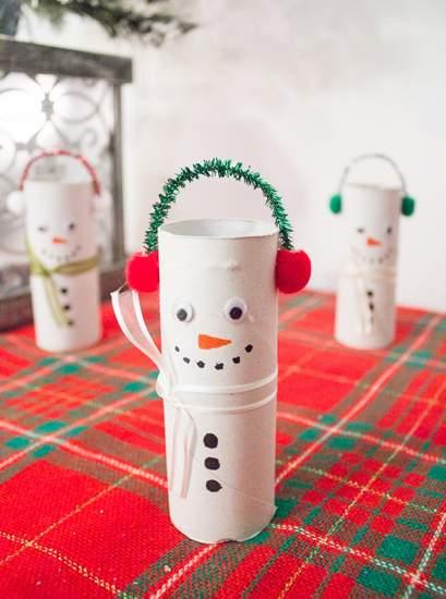 новогодние поделки снеговик фото 59