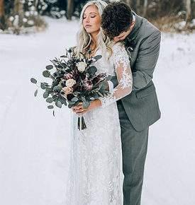 свадебная фотосессия зимой фото 05
