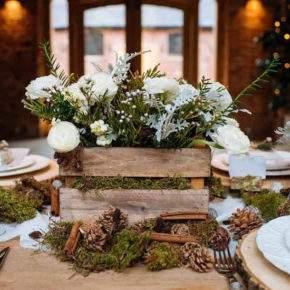 зимнее оформление свадьбы фото 10