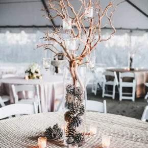 зимнее оформление свадьбы фото 14