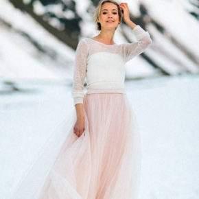 платье на свадьбу зимой фото 30