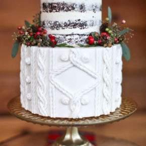 зимняя свадьба торт фото 48