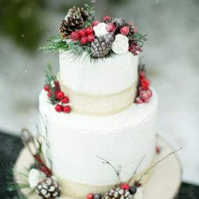 зимняя свадьба торт фото 49