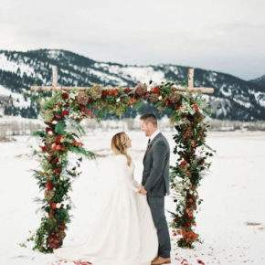 зимняя свадебная фотосессия фото 70