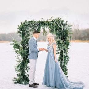 зимняя свадебная фотосессия фото 71