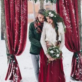 зимняя свадебная фотосессия фото 72