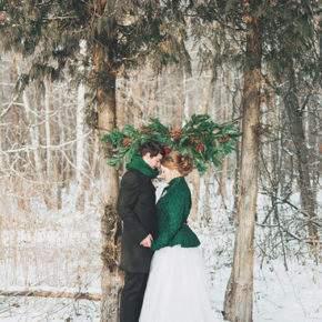 зимняя свадебная фотосессия фото 73