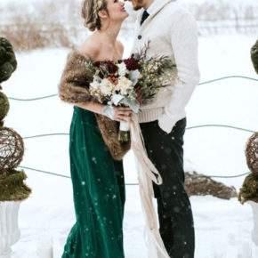 зимняя свадебная фотосессия фото 74