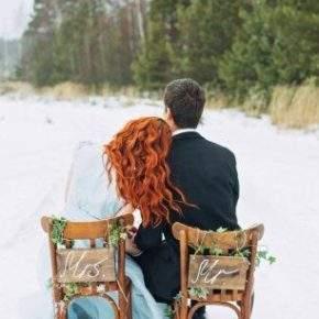зимняя свадебная фотосессия фото 79