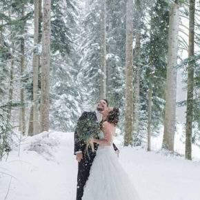 зимняя свадебная фотосессия фото 81