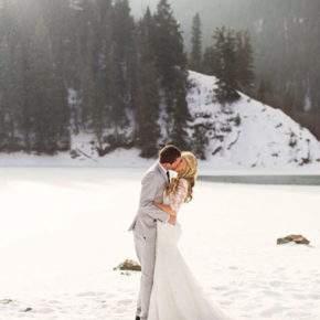 зимняя свадебная фотосессия фото 82