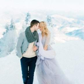 зимняя свадебная фотосессия фото 83