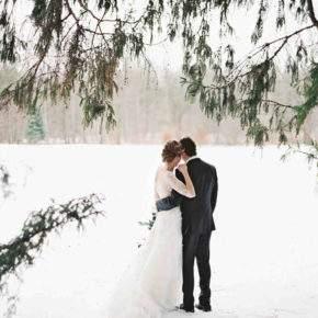зимняя свадебная фотосессия фото 85