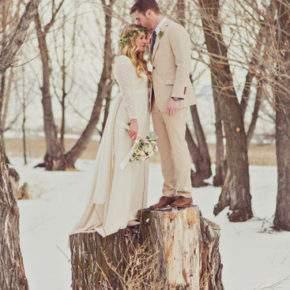 зимняя свадебная фотосессия фото 86