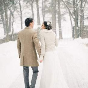 зимняя свадебная фотосессия фото 87