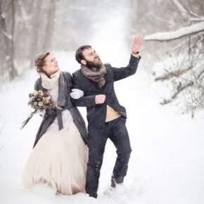 зимняя свадебная фотосессия фото 88