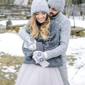зимняя свадебная фотосессия фото 90