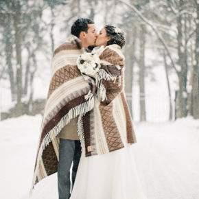 зимняя свадебная фотосессия фото 91