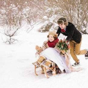зимняя свадебная фотосессия фото 92